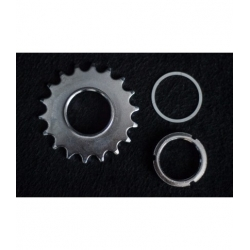 KIT PIGNON FIXE + ROUE LIBRE 18 DENTS FIXIE
